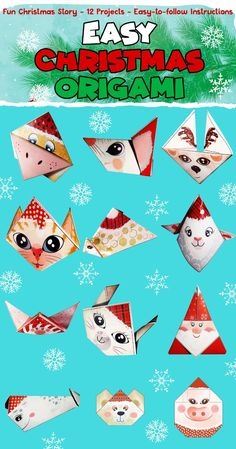 This Christmas Origami Kit was designed by a five-year-old, therefore this is an origami book like no other, which are often complicated and difficult for kids to follow. In Easy Christmas Origami, your kids are going to learn how to magically transform a piece of paper into cute animal figures in no time at all! Buy and try origami magic right away! Christmas Origami, Easy Christmas Crafts, Simple Christmas, Christmas Gifts, Crafts To Make, Fun Crafts, Crafts For Kids, Paper Crafts, Christmas Activities For Kids