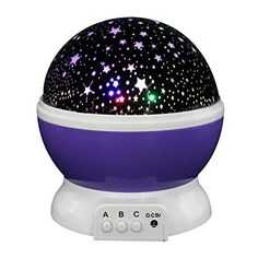 Euone Rotating Sky Cosmos Star Night Romantic Projector Luminous Light Lamp Home Decor >>> Visit the image link more details.
