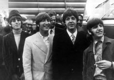 The Beatles leaving Heathrow for their German Tour, 23 June 1966