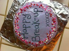 Break-up cake #classybreakup @coryeddy