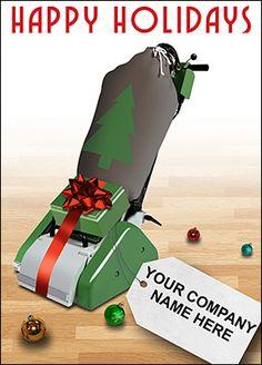 Customize Floor Sander Christmas Cards Online   Ziti Cards