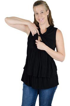 Latched Mama Ruffle Nursing Tunic