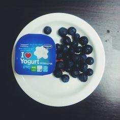 blueberries & yogurt