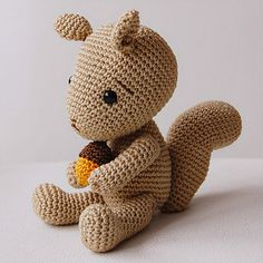 Ravelry: Simon the Squirrel pattern by Sanda J. Dobrosavljev