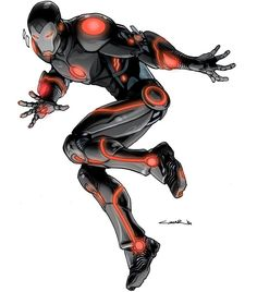 #tbt While designing Superior Iron Man with @tomtaylormade & Mark Paniccia. Here is a darker version found in the folder by yildiraycinar