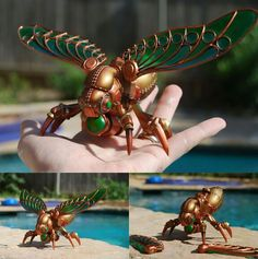 Awesome steampunk insect sculpture