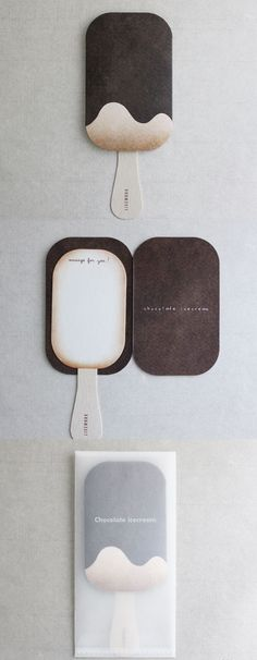 Ice cream card. I made mine with a Popsicle  stick, and white & brown paper.