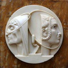 Adolfo Wildt, Milano 1868 - 1931. Piccolo contributo ad un interessantissimo e poco conosciuto scultore del 900 italiano. apotropaico49.blogspot.com.es Italian Sculptors, Contemporary Sculpture, Wood Carving, Sculpture Art, Amazing Art, Clay, Artwork, Cufflinks, Tatoo