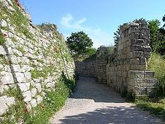 Portion of the legendary walls of Troy (VII), identified as the site of the Trojan War (ca. 1200 BC.)