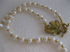 Pearls Pearl Necklace Fresh Water Pearls by JewelryMakerCharlene, $37.00