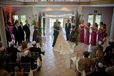 Indoor ceremony at Lionscrest Manor, Lyons, CO CALLUNA EVENTS: Happy Anniversary Lida & Jonathan - A Colorado shabby chic wedding!  #lionscrest #coloradowedding #coloradomountainwedding #lyons