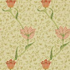 Designed by Morris in 1885 'Garden Tulip' wallpaper
