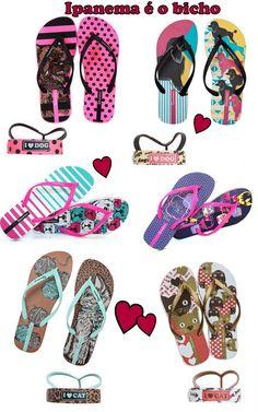 #Shoes #Pet Sandálias Ipanema é o bicho!
