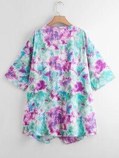 Kimono avec imprimé | Mode en ligne | SHEIN FRANCE Kimono Jacket, Jackets, Down Jackets, Jacket