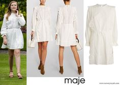 Maje Broderie Anglaise Mini Dress
