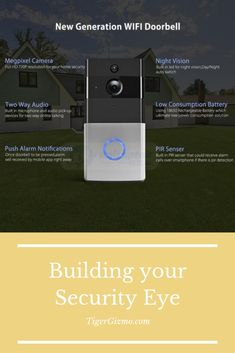 You can see and talk to your visitors before opening the door via your phone, it features a wide-angle HD camera that provides a clear image with no dead ends overview to your home. Mechanical Engineering, Electrical Engineering, Smart Ring, Ring Video Doorbell, Material Science, Hidden Camera, Intercom, Gadgets And Gizmos, Good Things