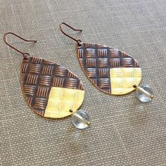 geometric metal earrings - Buscar con Google