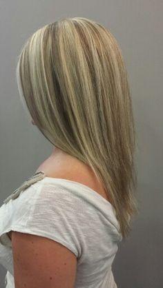 ... Hair And Long Layer Haircut Full Blonde Highlights   Dark Brown Hairs