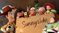 sunnyside toy story - cake stand