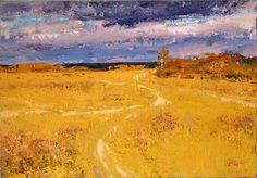 Autumn Day autumn landscape - oil painting