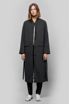 HOPE Flo Long Coat + Ferry Trouser + Painted Sneakers | My Chameleon