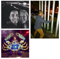 We had a great time exploring the Inner Harbor at night, end even found an outdoor xylophone-ish display to play on.