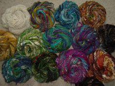 ART YARN HANDSPUN Merino Alpaca Silk Kid Mohair by tinkertailoruk, $16.00