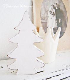Tannenbaum im Shabby-Stil von Nostalgie-Schmiede auf DaWanda.com