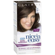 Clairol Nice 'N Easy Non-Permanent Hair Color 77 Medium Ash Brown 1 Kit *** Check out this great product. (This is an affiliate link) #HairColoringProducts