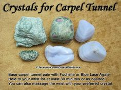 Crystals for carpel tunnel