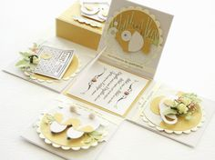 Beautiful take on the explosion box ... but it's a golden anniversary card.  Just gorgeous!  Agnieska