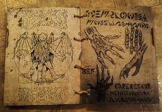 Spell Book, Book of Shadows, Grimoire, Necronomicon, Book of the Evil Dead Book, Book Of The Dead, Horror Comics, Horror Art, Necronomicon Lovecraft, Old Diary, Dark Books, Page Decoration, Beautiful Dark Art