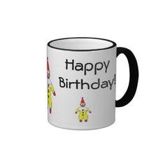 Happy Birthday Clown Mugs