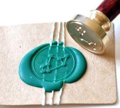 Sagittarius Gold Plated Wax Seal Stamp & Sealing Wax