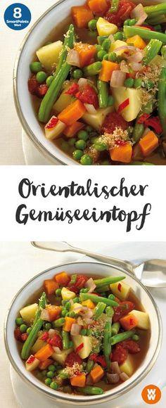 Orientalischer Gemüseeintopf   8 SmartPoints/Portion, Weight Watchers, Eintopf, fertig in 60 min.