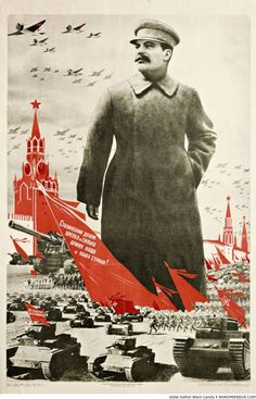 Propaganda poster from the Soviet Union, WWII Ww2 Posters, Political Posters, Russian Constructivism, Communist Propaganda, Posters Vintage, Retro Posters, Soviet Art, World War Two, Les Oeuvres