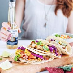 Hi! @sliceofpai here! I'm taking over the @corkcicle Instagram account for the next 7 days to show how I #drinkwell.  Enjoyed grilled fish tacos tonight with iced cold beers on this hot summer day ☀️