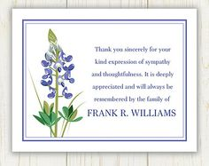 Funeral Thank You Cards with a Classic Design - Custom - Set of 36 ...
