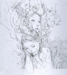 Fantasy Drawings, Fantasy Art, Art Drawings, Photographie Portrait Inspiration, Art Studies, Crayon, Portrait Art, Art Techniques, Art Sketches