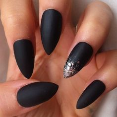 Black Matte Stiletto Nail Designs - nailshairmakeup &tatts ...