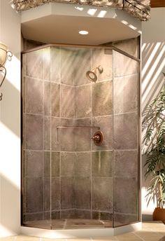 find this pin and more on bedroom redo roda celesta headerless shower door