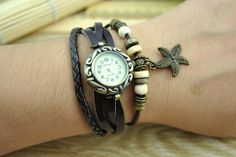 Retro leather wrist watchWomen's leather wrist by DavidBracelets, $16.50