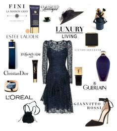 """Luxury Living"" by fini-i ❤ liked on Polyvore featuring Chesca, Estée Lauder, Guerlain, L'Oréal Paris, Yves Saint Laurent, La Maison, Classified, Christian Dior and Gianvito Rossi"