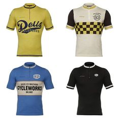 The complete set of four merino cycling jerseys from our special collection designed by Deus Ex Machina Cycleworks - Milan @deuscycleworksitaly  This capsule collection is inspired by classic motorsports and Americana graphic themes. Available on demarchi.com .... #demarchicycling #cycling #instacycling #deusexmachina #jerseys @deuscycleworksitaly #cyclingapparel #cyclingwear #cyclingclothing #biking #bycicle #vintage #custom #custombike #traditional #kitting #bike #apparel #roadcycling…