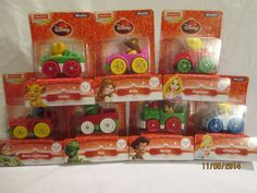 Fisher Price Little People Disney Wheelies Lot of SEVEN 2013 Christmas Edition #FisherPrice