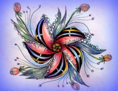 Beautiful. From LeeAnn's Zentangle-ing Fun site.
