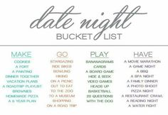 Date night bucket list http://www.canalflirt.com/love//?siteid=1713428
