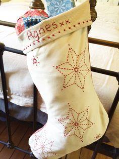Sashiko Christmas Stocking Full Kit CSFK-1014 - BEBE BOLD: JAPANESE TEXTILES…