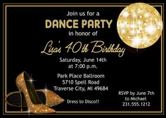 Printable Disco Invitation   Adult Disco Ball by AnnounceItFavors, $15.00