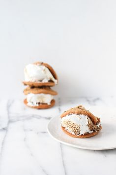 Chocolate Chip Cookie S'more Sandwiches